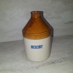 Vintage Mercury USA stoneware crock Pottery jug